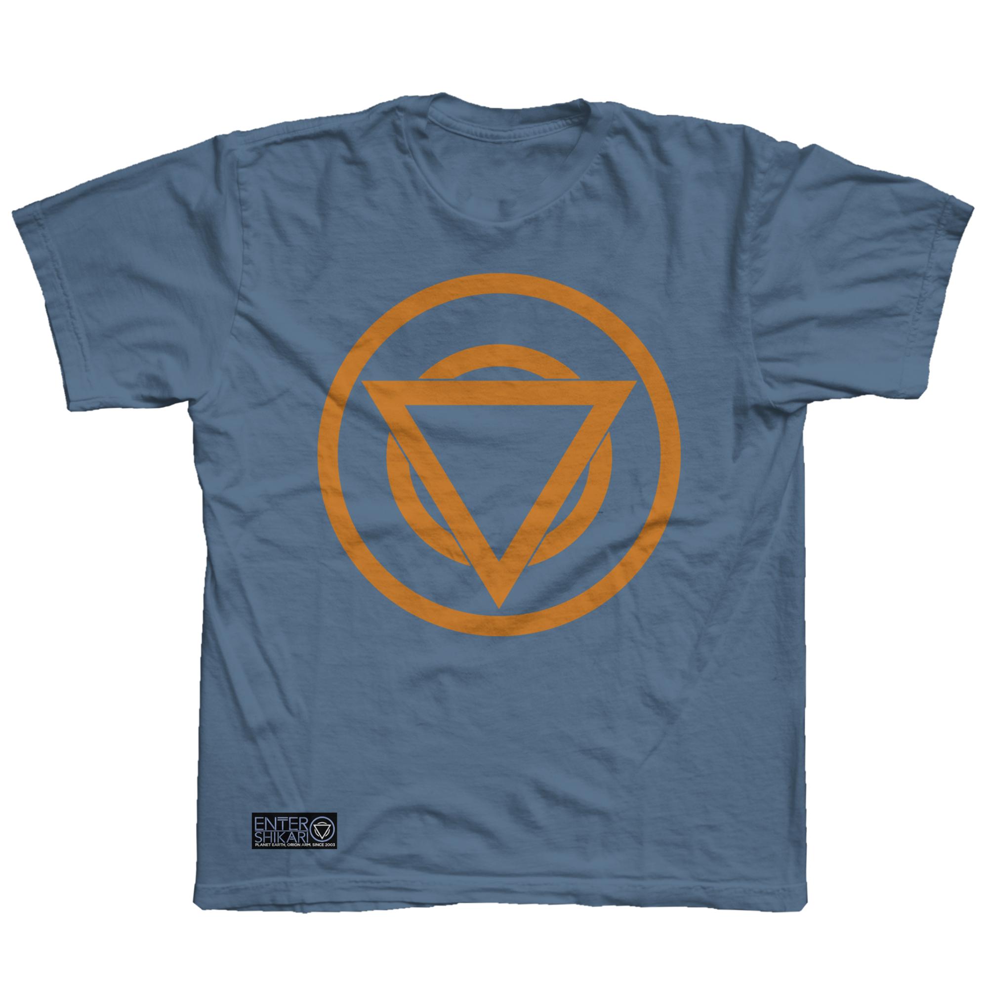 Colour Logo T Shirt (Indigo / Orange) [PREORDER]