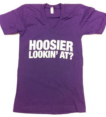 Hoosier Lookin' At Slim-fit V-Neck