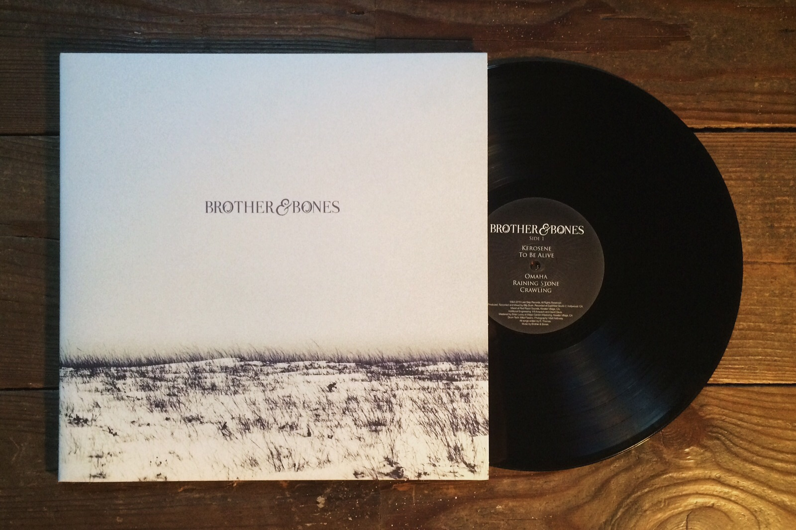 "'Brother & Bones' 12"" VINYL - ALBUM"