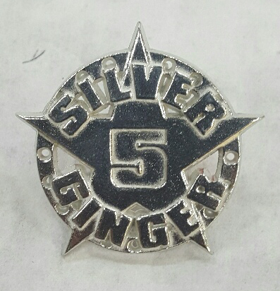 Silver Ginger 5 – Star Logo – Pewter Badge