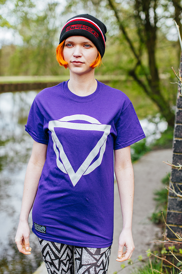 Colour Logo T Shirt (Purple / Light Grey)