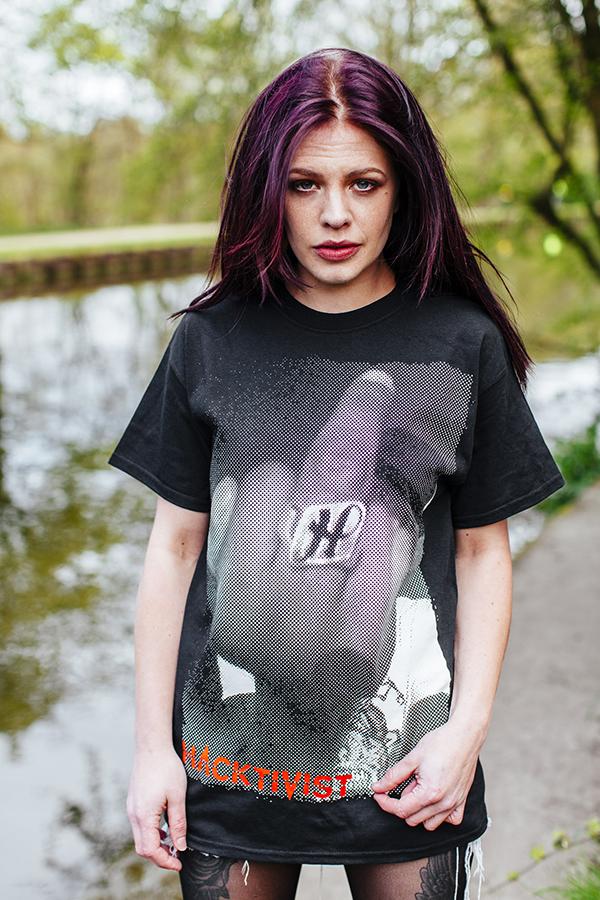 Middle Finger T Shirt (Black)