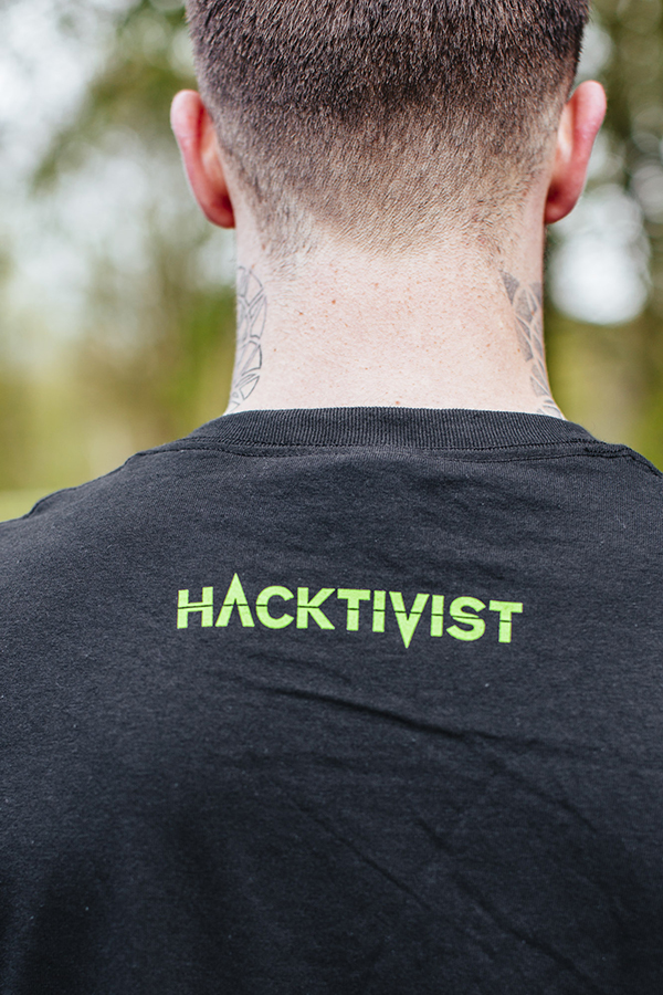 """""""Hashtivist"""" Logo [Black] T-Shirt"""