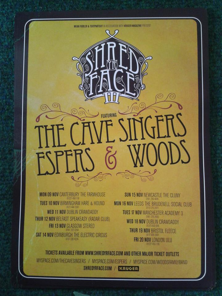 'SHRED YR FACE 3 TOUR' Poster