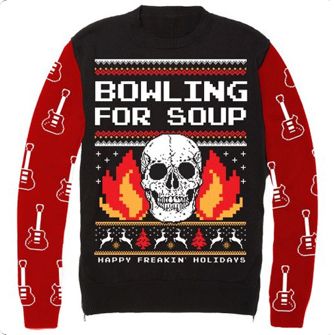 Flaming Skull (Christmas Sweater) - Jumper