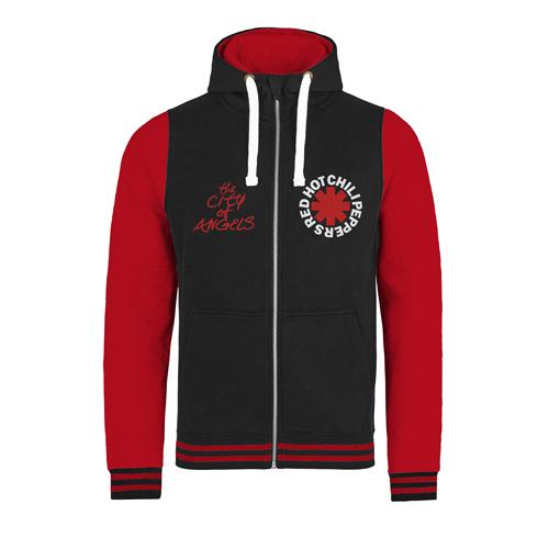 Logo & COA – Black/Red Varsity Zip Hood