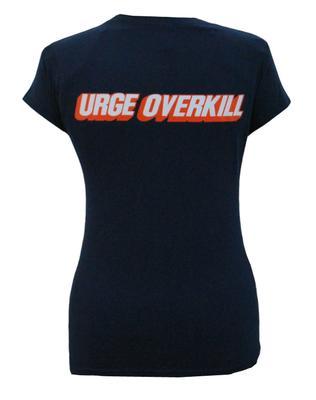 Ladies Navy Round Logo T-Shirt
