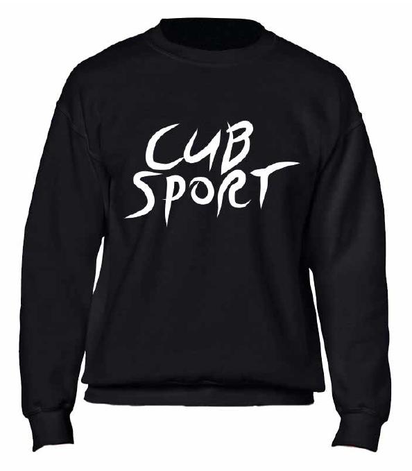 Cub Sport Black Crewneck Jumper
