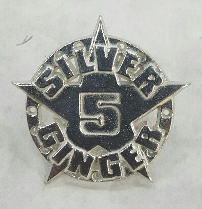 Silver Ginger 5 – Star Logo – Pewter Badge