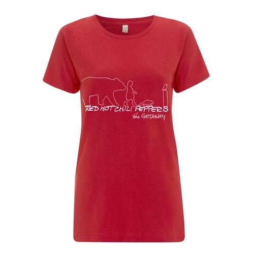 Getaway Outline – Girls Red Tee
