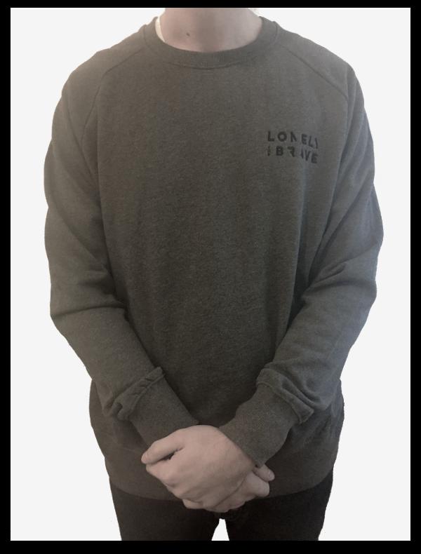 Embroidered Logo Sweatshirt - Dark Heather (NEW FOR WINTER '16)