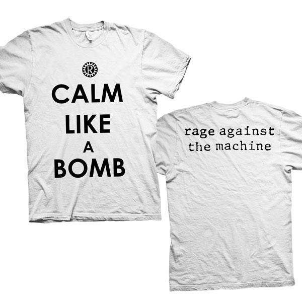 Calm Like A Bomb - White Tee