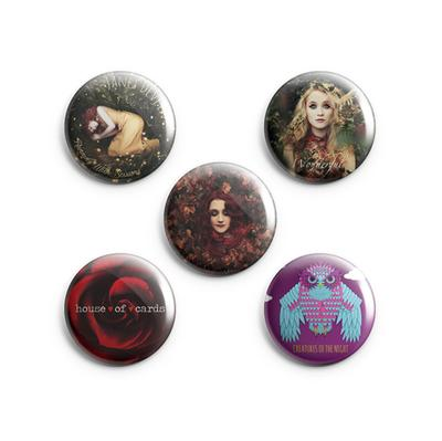 Janet Discography Badge Set (Pack Of 5)